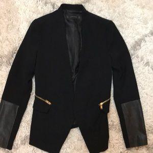 Zara blazer in black with gold hardware